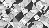 Abstract 3d rendering of triangulated surface. Modern background. Futuristic polygonal shape. Low poly minimalistic design for poster, cover, branding, banner, placard.