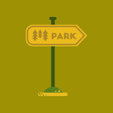flat icon on background park sign