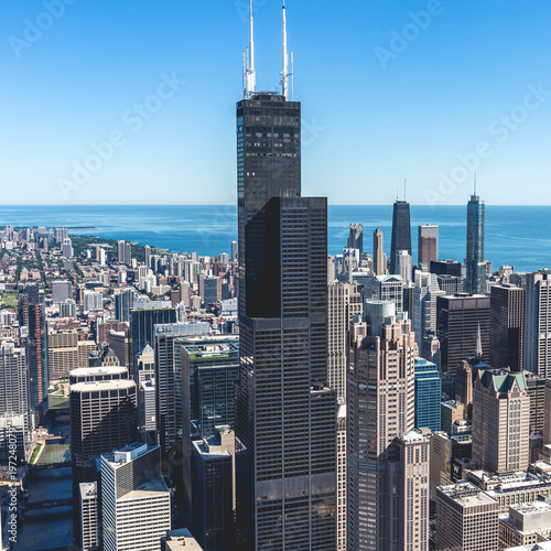 Foto op Aluminium New York Downtown Chicago