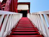 Escalones rojos