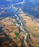 Aerial View of Southern Rhone Valley, Provence France