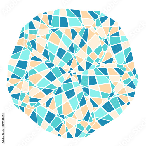 Mosaic mandala pattern. Abstract ethnic background