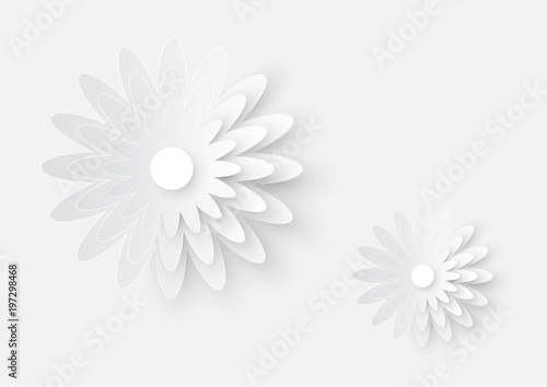 Illustration of white paper cutting flower art on white paper illustration of white paper cutting flower art on white paper texture background mightylinksfo