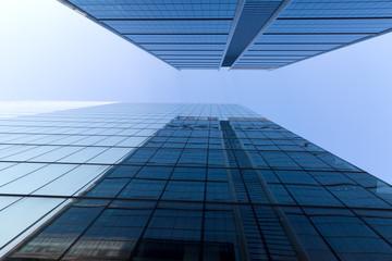 Skyscraper bottom view