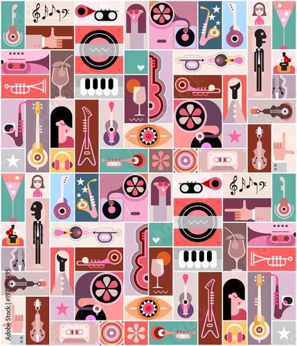 Plexiglas Abstractie Art Music Art Background