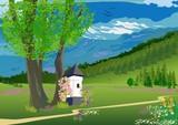 wiosenny krajobraz w górach