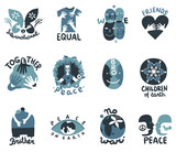 International Friendship Symbols Emblems