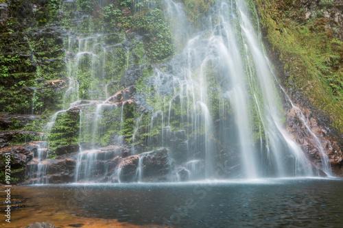 Beautiful waterfall in Sapa, Vietnam - 197324651