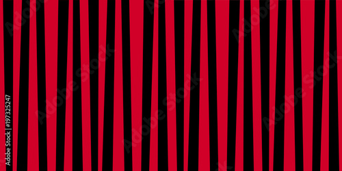Materiał do szycia Cute pattern banner with red and black vertical stripes.