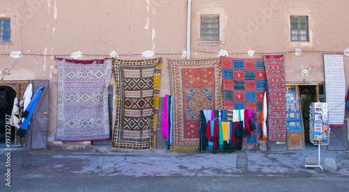 Fotobehang Baksteen muur Maroko