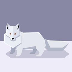 Flat design Polar Fox