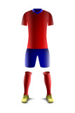 Red and Blue Soccer Uniform Template - 197341450