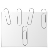 Paper clip vector. Realistic metal paper clip icon. Flat isolated vector illustration on a white background. - 197341687