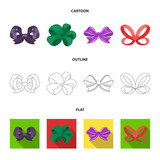 Ornamentals, frippery, finery and other web icon in cartoon,outline,flat style.Bow, ribbon, decoration, icons in set collection. - 197344206