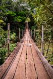 Suspension wood bridge