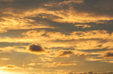 Dramatic cloudy sky clouds, natural sunset sky background