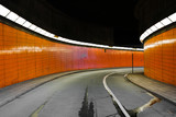 Tunnel with orange side walls