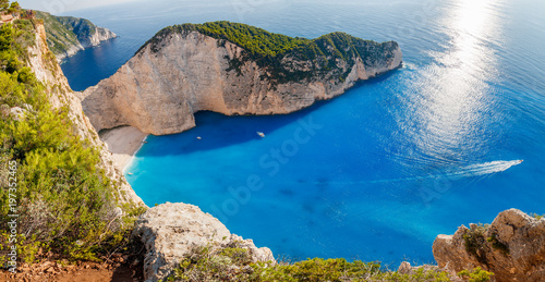 Most Incredible Navagio Beach or Shipwreck Beach. Zakynthos, Greece © Kennymax