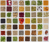 Selection of cooking ingredients to add flavor and seasoning. poster