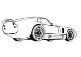 sketch retro car vector.