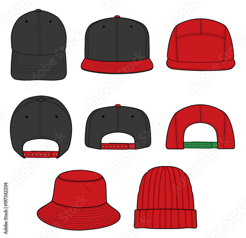 23fe756bb41 Hat beanie design illustration flat sketches template