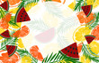 Fruit background with pineapple, watermelon - 197381418