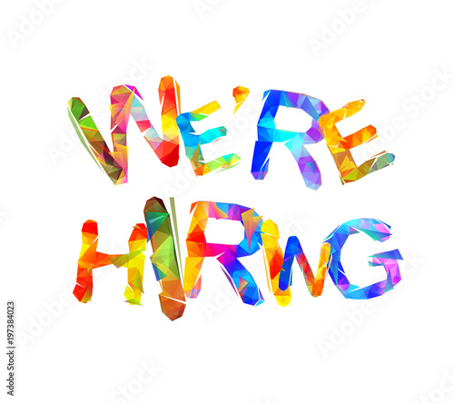 We are hiring. Triangular letters