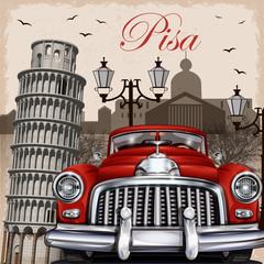 Pisa retro poster.