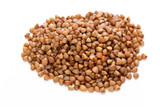 Buckwheat grains isolated on the white background. - 197389085
