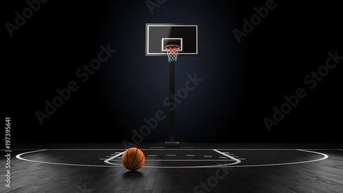 Basketball Arena with basketball ball