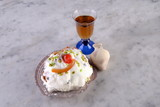 Sfincia di San Giuseppe typical Sicilian sweet with ricotta and candied fruit - 197396204