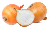 Fresh onion isolated on white background  with clipping path - 197404867