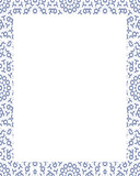 White Frame with Decorated Borders - 197408824