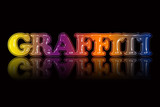 Colorful 'GRAFFITI' text illustration