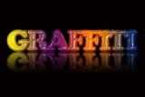 Colorful 'GRAFFITI' text illustration