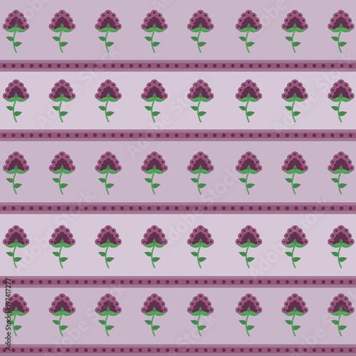 Beautiful flowers background pattern - 197417277