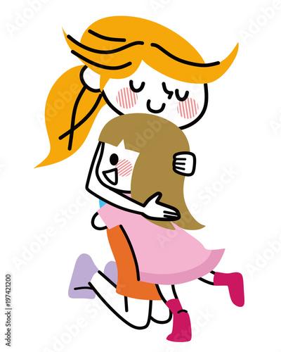 ママに抱きつく子供 - 197421200