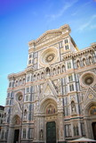 Facade of the Cathedral Santa Maria del Fiore, The Dome in Florence, Tuscany, Italy
