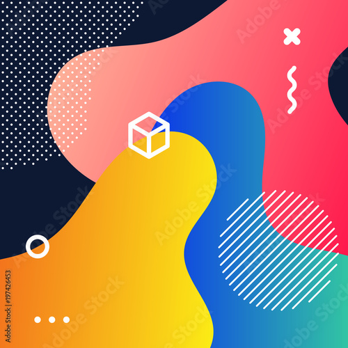 Abstract geometric gradient pattern background