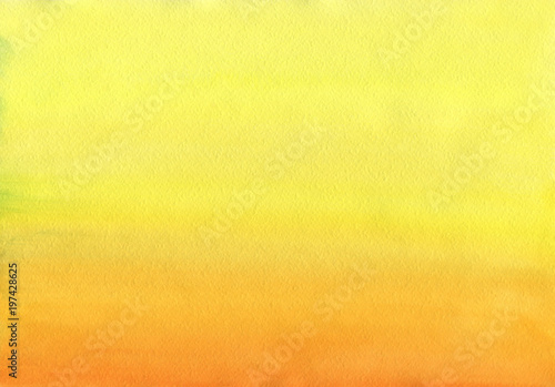 Clean Warm Watercolor Background uniform gradient mixing of Cadmium Yellow, Orange and Titian Red © Victor Chaika