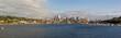 Seattle City Skyline along Lake Union in Washington State USA