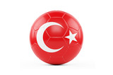 Soccer Ball On White With Clipping Path