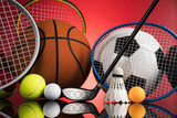 Sports balls with equipment - 197440803