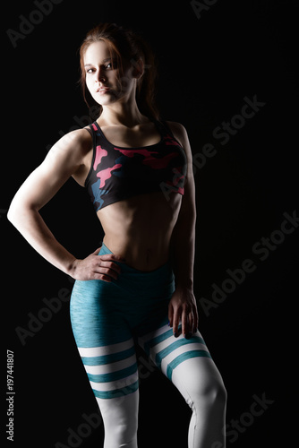 figure of athletic woman