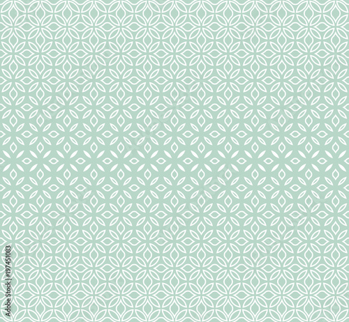 Fototapeta Modern stylish texture with flowers. Seamless vector pattern