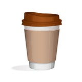 takeaway cup of cofee with brown cover