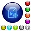Playlist properties color glass buttons