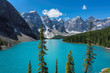 Moraine lake in Canadian Rockies, Banff National Park, Canada.