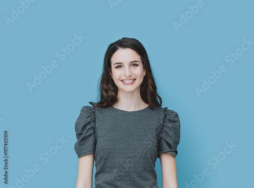 Smiling elegant girl portrait