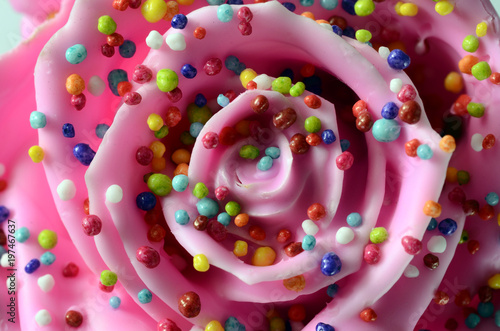 Pinky rose flower, imitation candy - 197467637